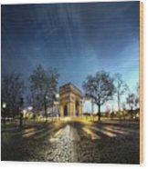 Arc Of Triumph Wood Print by Pascal Laverdiere