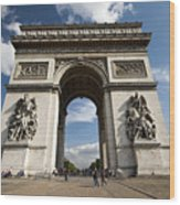 Arc The Triomphe Paris Wood Print