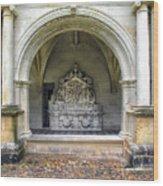 Arch At Fontevraud Abbey  Wood Print