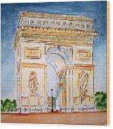Arch De Triumph  Wood Print