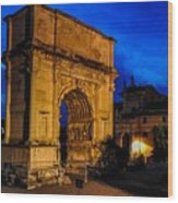 Arch Of Titus In Rome Wood Print