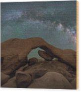Arch Rock Milky Way  Wood Print