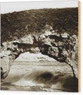 Arch Rock, Santa Cruz, California Circa 1900 Wood Print