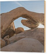Arch Rock Sunrise Wood Print