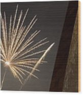 Arch With Fireworks Wood Print