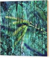 Archaic Blue Dream Wood Print