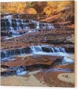 Archangel Falls Wood Print