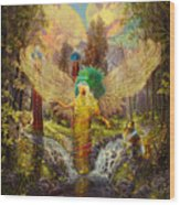 Archangel Haniel Wood Print
