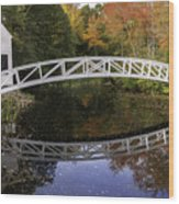 Arched Bridge-somesville Maine Wood Print