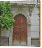 Arched Door Cadiz Wood Print