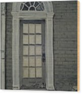 Arched Doorway Federal Hill Wood Print