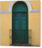 Arched Doorway Wood Print by Perry Webster