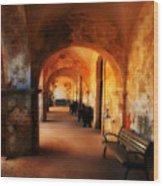 Arched Spanish Hall Wood Print