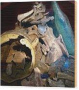 Archeological Dig Wood Print