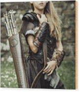 Archer Warrior Wood Print