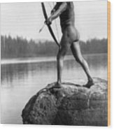Archery: Nootka Indian Wood Print by Granger