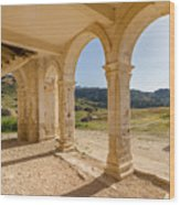 Arches And Stairs Of Derelict Agios Georgios Church Wood Print