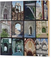 Arches Collage Wood Print