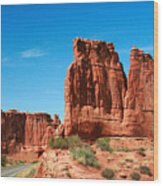 Arches National Park From A Utah Highway Wood Print