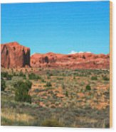 Arches National Park In Moab, Utah Wood Print