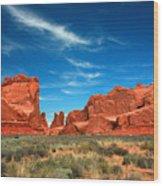 Arches National Park, Park Avenue Wood Print