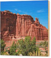 Arches National Park, Utah Usa - Tower Of Babel, Courthouse Tower Wood Print
