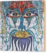 Archetypal Mask Wood Print