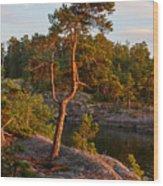 Archipelago Sunset Wood Print