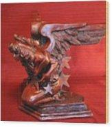 Architectural Angel Wood Print by Larkin Chollar