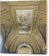 Architectural Artistry Within The Vatican Museum In The Vatican City Wood Print