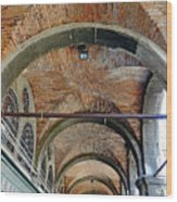 Architectural Ceiling Of The Building Owned By The Rialto Market In Venice, Italy Wood Print