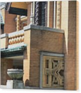 Architectural Detail - 5 Wood Print
