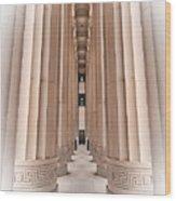 Architectural Pathway Of Pillars Wood Print