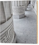 Architectural Pillars Wood Print