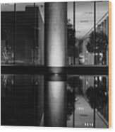 Architectural Reflecting Pool Wood Print