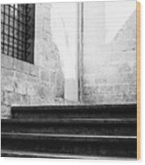 Architectural Stone Stairs Wood Print