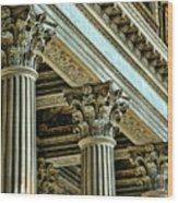 Architecture Columns Palace King Louis Xiv Versailles  Wood Print
