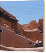 Architecture In Santa Fe Wood Print