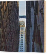 Architecture New York City The Crossing  Wood Print