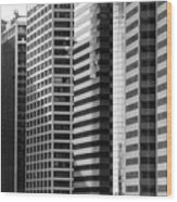 Architecture Nyc Bw Wood Print