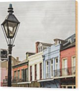 Architecture Of The French Quarter In New Orleans Wood Print