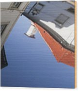Architecture Reflection Wood Print