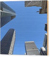 Architecture Tall Color Buildings Wood Print