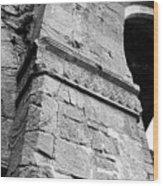 Architecural Detail At Irish Jerpoint Abbey County Kilkenny Ireland Black And White Wood Print