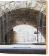Archway And Gate Wood Print