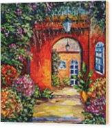 Archway Garden Wood Print