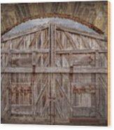 Archway Gate Wood Print