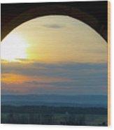 Archway Landscape Wood Print