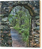Archway To The Forest Wood Print