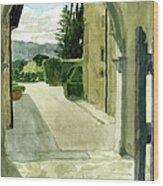 Archway Villa Mandri Wood Print